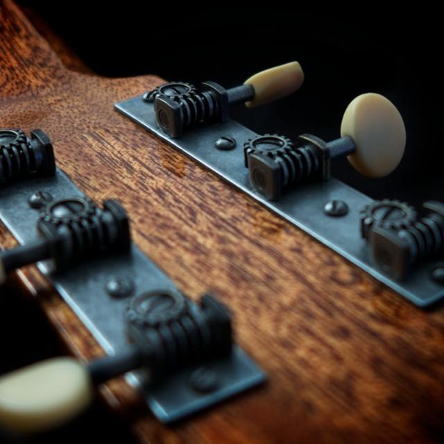 """guitar detail lll"" stock image"