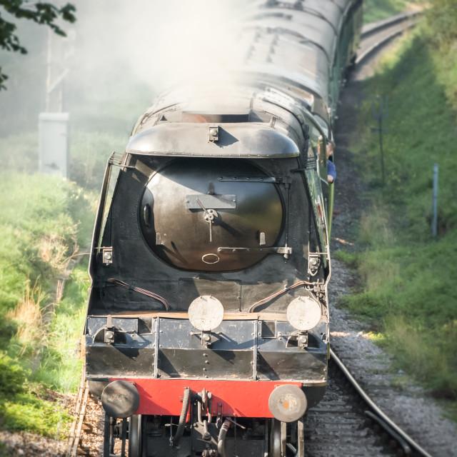 """vintage steam locomotive"" stock image"