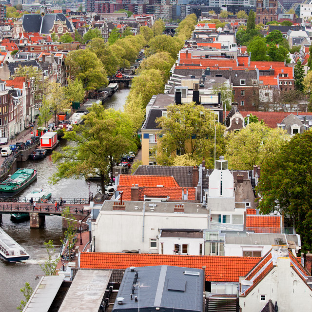"""City of Amsterdam from Above"" stock image"