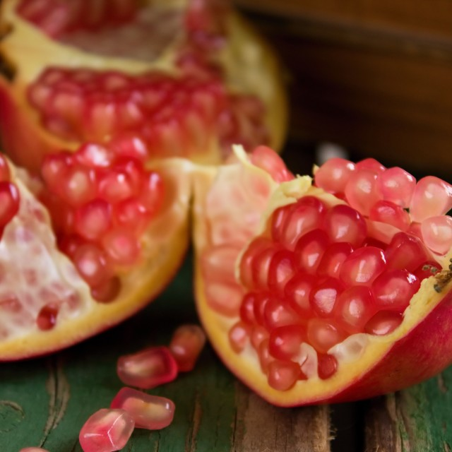 """""""Detail of pomegranante seeds"""" stock image"""