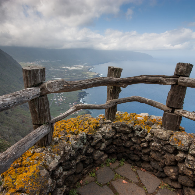 """El Hierro viewpoint"" stock image"