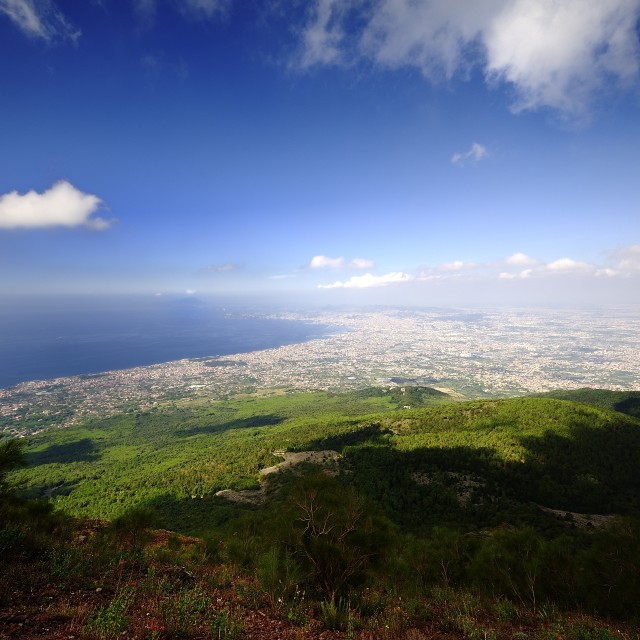 """Amalfi Coast from Mount Vesuvius"" stock image"