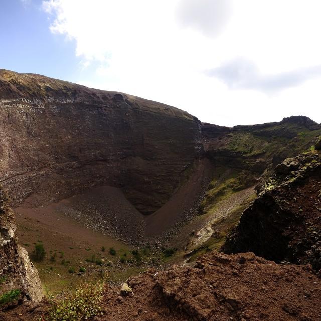 """The Crater of Mount Vesuvius"" stock image"