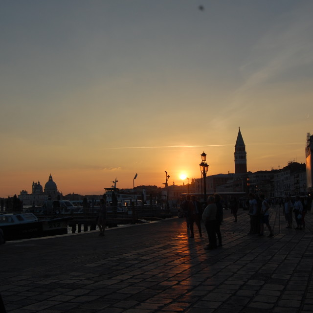 """Sunset in Venice"" stock image"