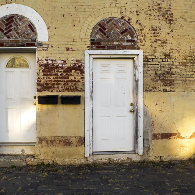 """Corinth Doors"" stock image"