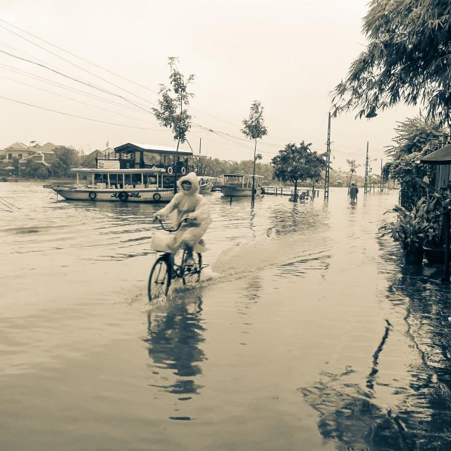 """Flooding, Hoi An, Vietnam"" stock image"