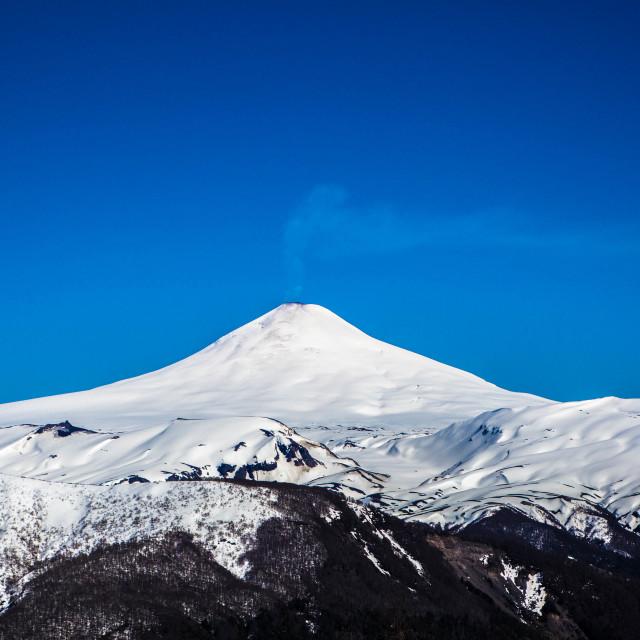 """Volcano Villarica, Pucon"" stock image"