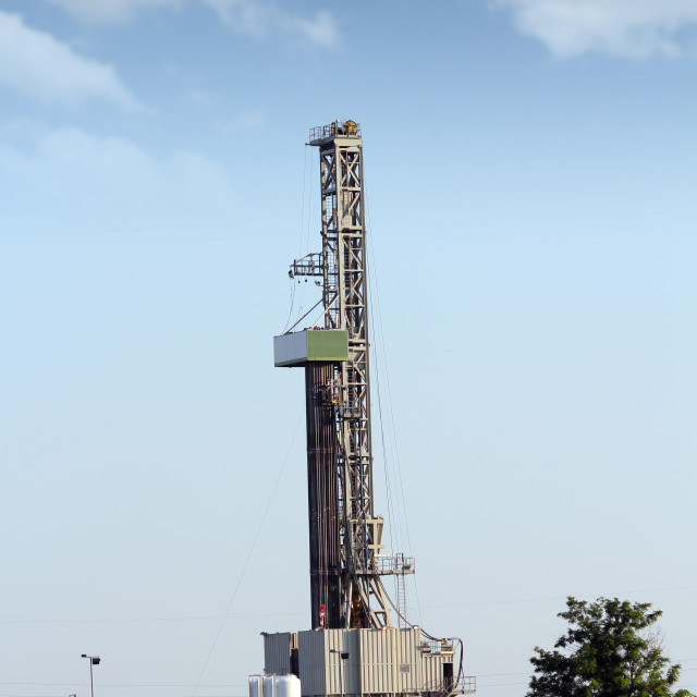 """""""oil drilling rig on field"""" stock image"""