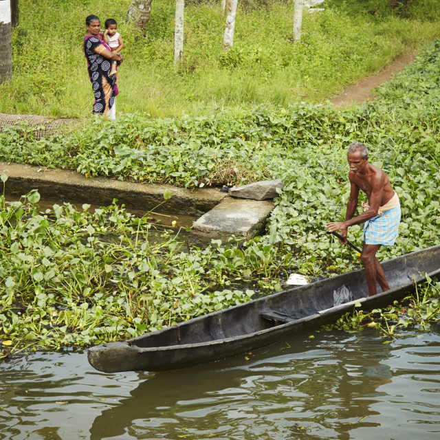 """Boating man"" stock image"