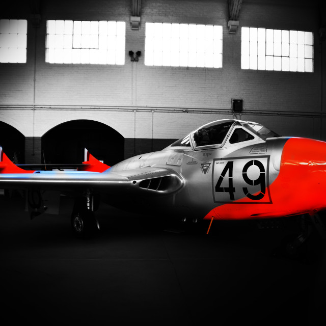 """DeHavilland Vampire"" stock image"