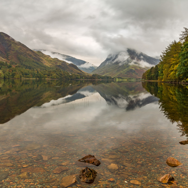 """Moody Lake Buttermere"" stock image"