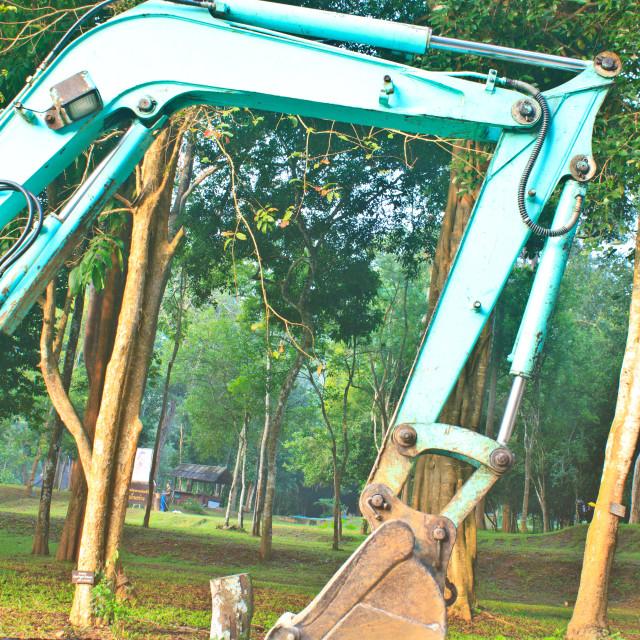 """excavator arm and backhoe"" stock image"