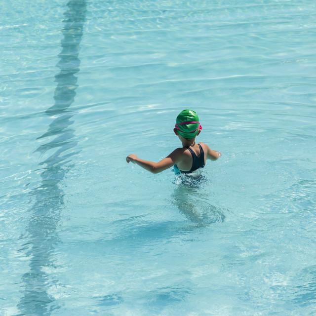 """""""Girl Pool Challenge"""" stock image"""
