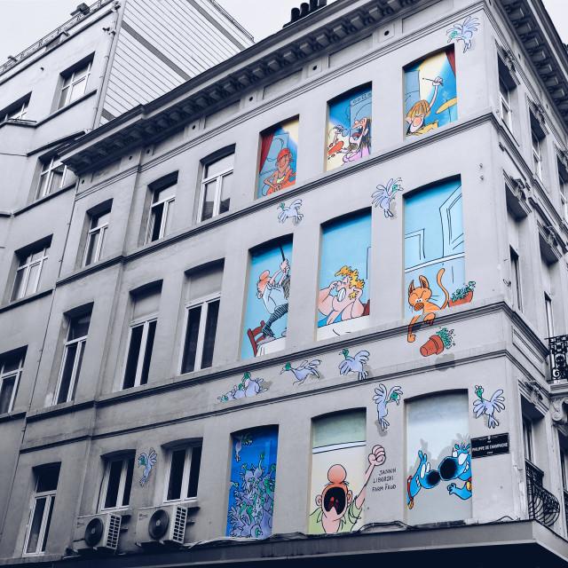 """""""Rue Philippe de Champagne, Bruxelles, Belgium."""" stock image"""