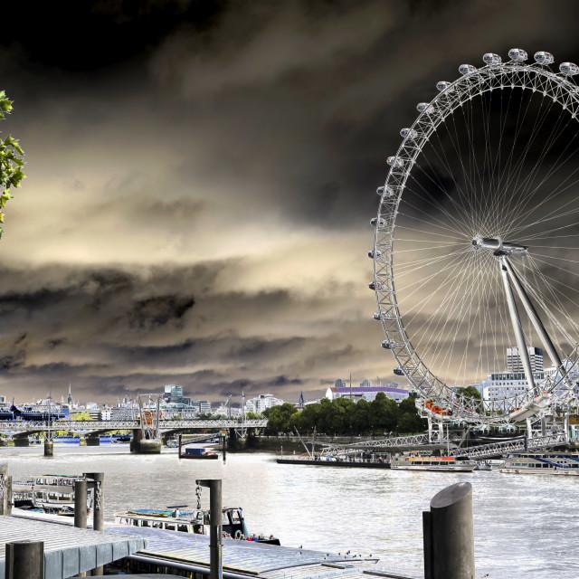 """The London Eye."" stock image"