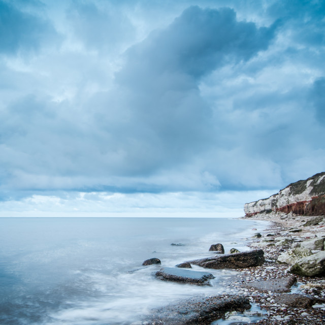 """Hunstanton Cliffs"" stock image"