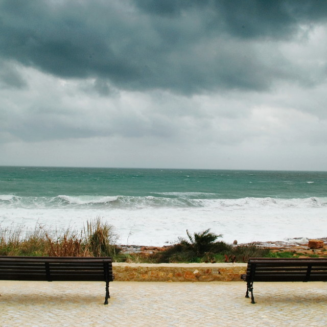 """""""Two bench"""" stock image"""