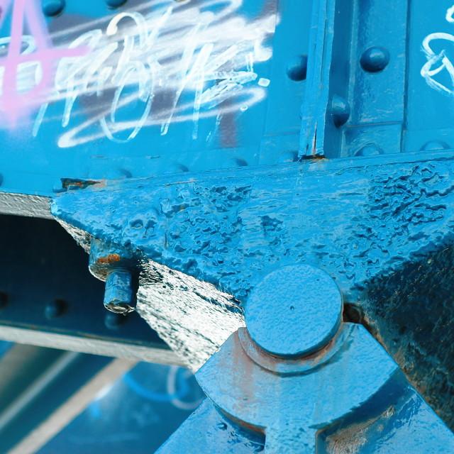 """""""Blue bearing detail"""" stock image"""