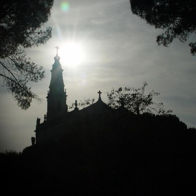 """Fatima Sanctuary Silhouette"" stock image"