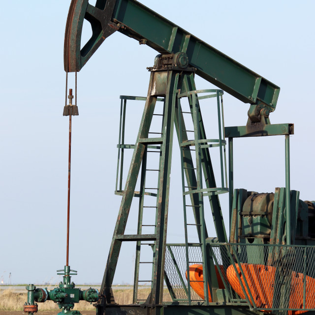 """""""pump jack close up oil industry"""" stock image"""