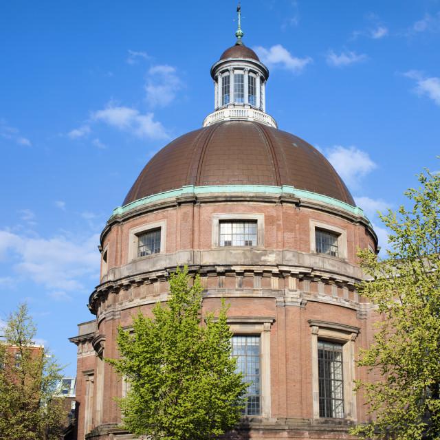 """Round Lutheran Church in Amsterdam"" stock image"