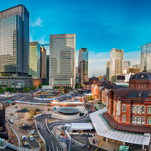 """Tokyo Station Surroundings"" stock image"
