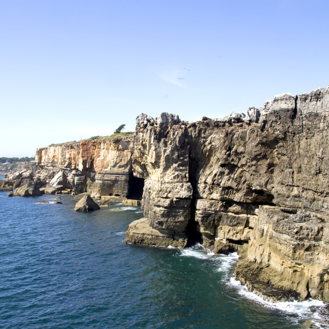 """Cliffs of Boca de inferno in Cascais (Portugal)"" stock image"