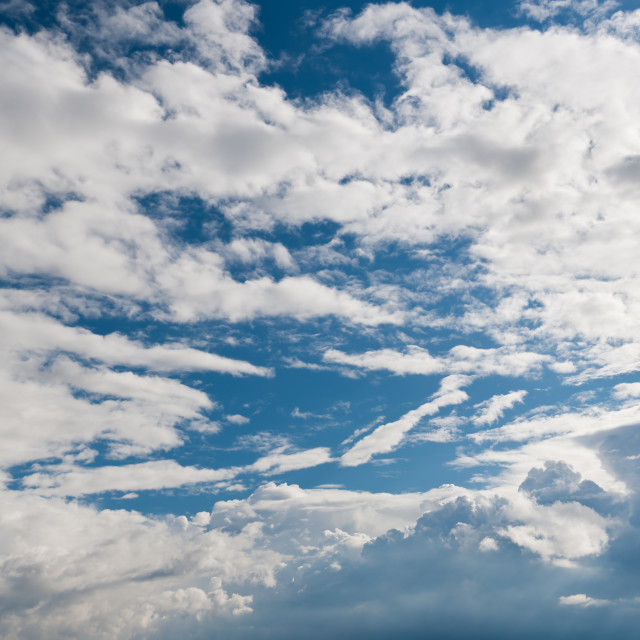 """Growing Cumulus clouds formation"" stock image"