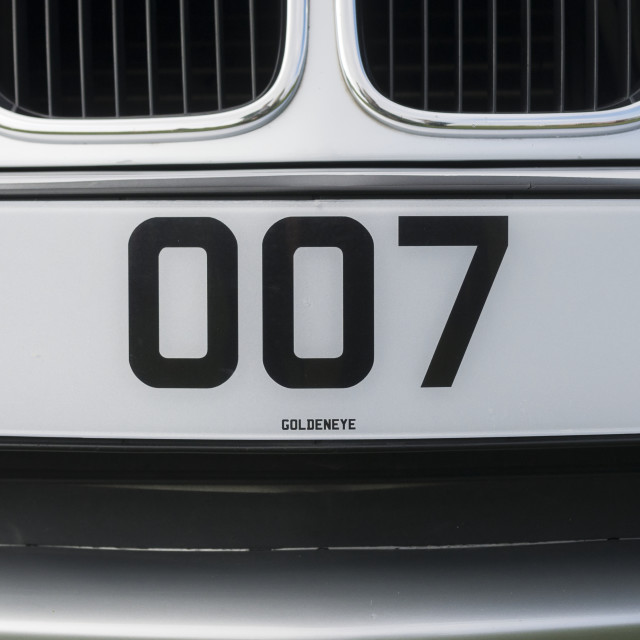 """James Bond 007 Number Plate"" stock image"