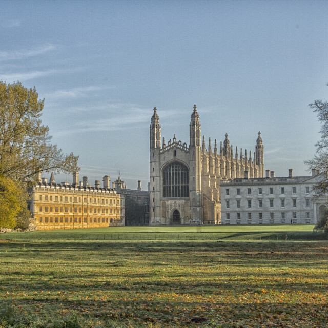 """Kings College, Cambridge"" stock image"