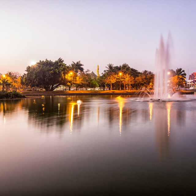 """City park fountain"" stock image"