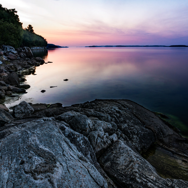 """Sunrise over baltic sea"" stock image"