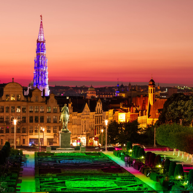 """""""Brussels at Sunset"""" stock image"""