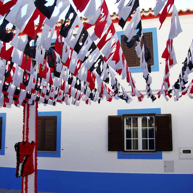 """decorated street,Redondo village,Portugal"" stock image"