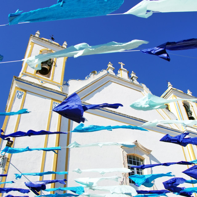 """Portuguese church,Redondo village, Portugal"" stock image"