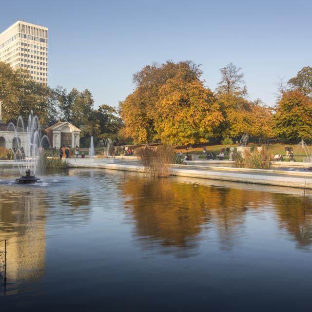"""Hyde Park Italian Gardens"" stock image"