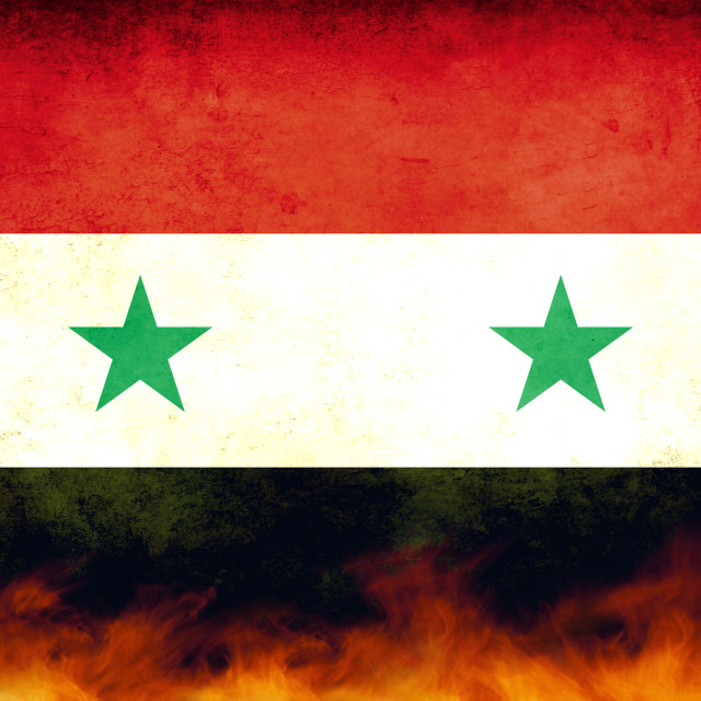 """Syria Conflict Flag"" stock image"
