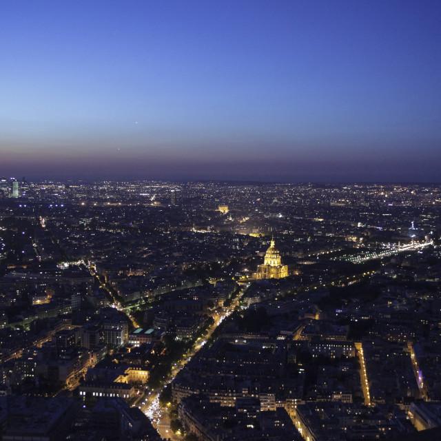 """Paris at night"" stock image"