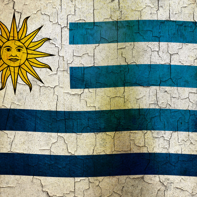"""""""Grunge Uruguay flag"""" stock image"""