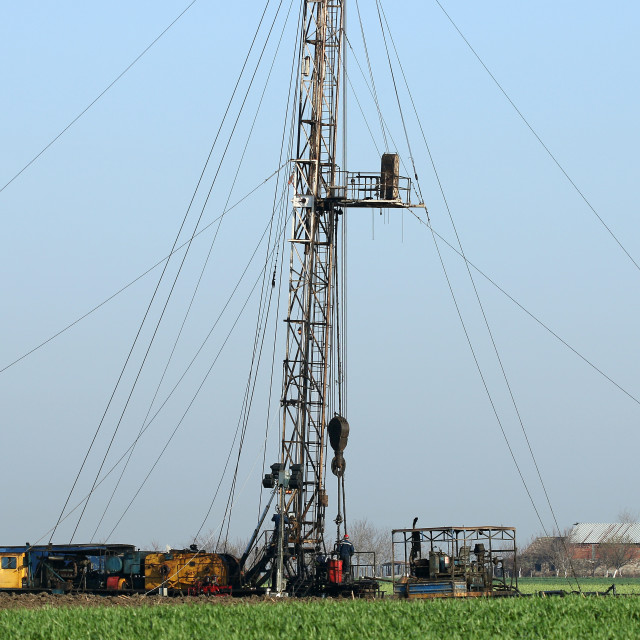 """""""oil drilling rig and workers"""" stock image"""