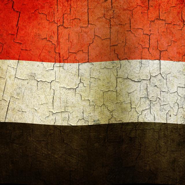 """Grunge Yemen flag"" stock image"
