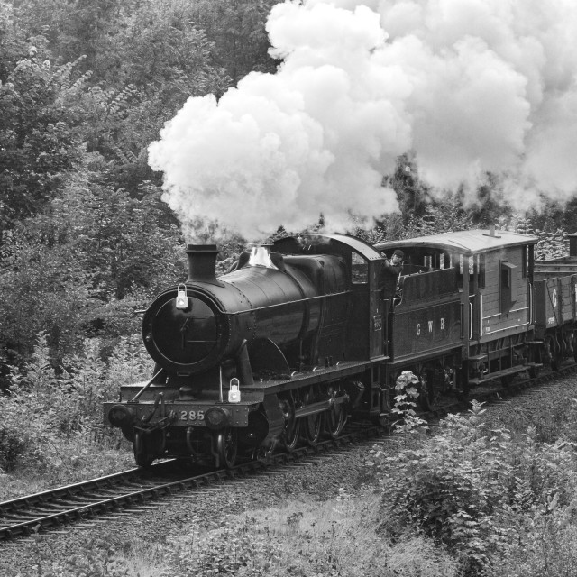 """GWR Goods Train"" stock image"