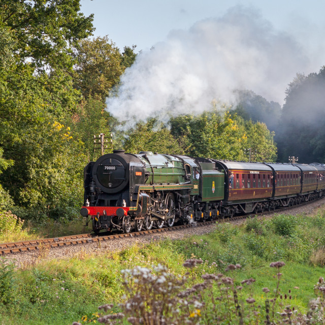 """Britannia in Steam"" stock image"