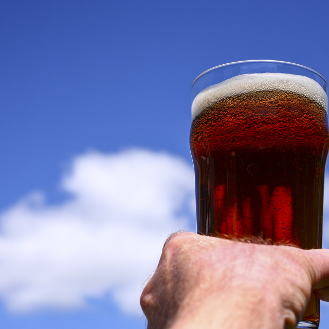 """Pint of real ale"" stock image"