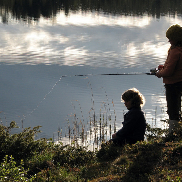 """Summer fishing"" stock image"