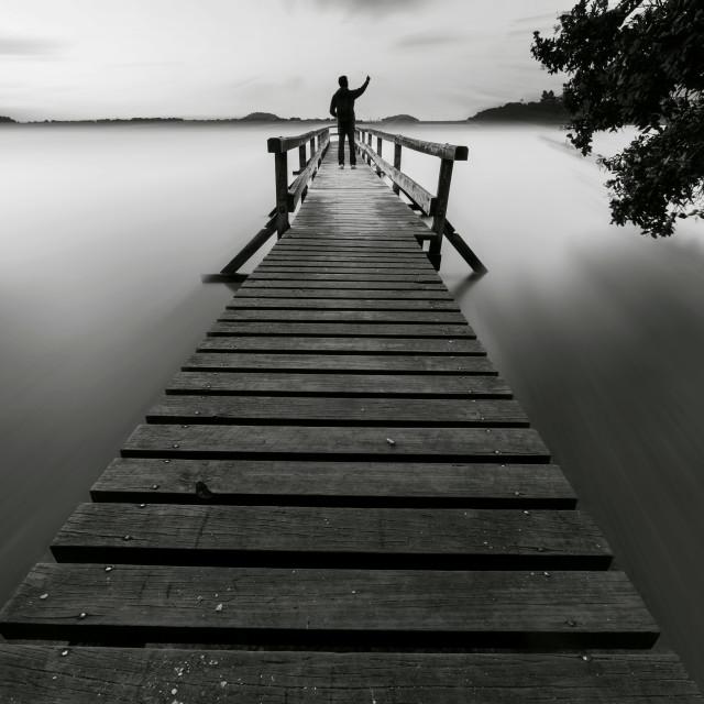 """""""a calm evening ....."""" stock image"""