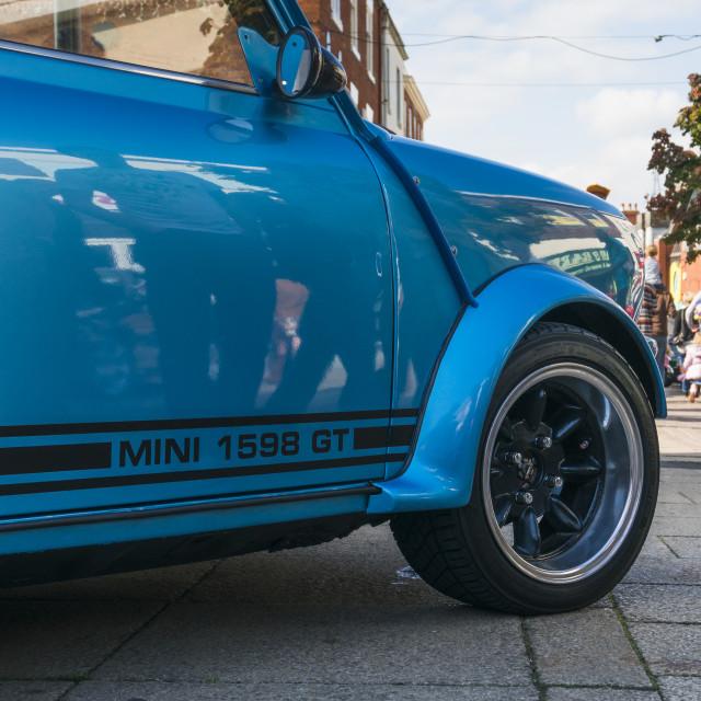 """""""Blue Mini GT"""" stock image"""
