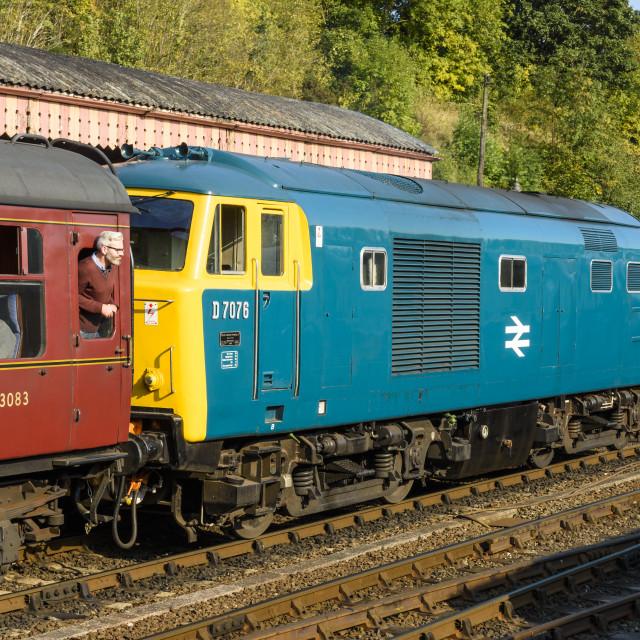 """""""Class 35 Hymek D7076"""" stock image"""