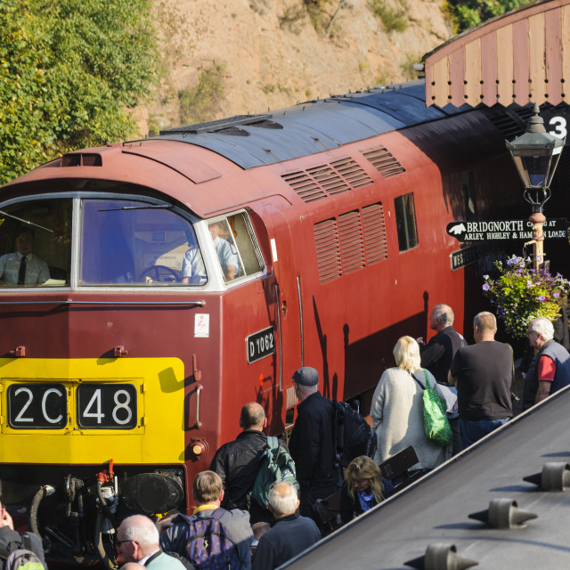 """Class 52 western diesel loco D1062"" stock image"