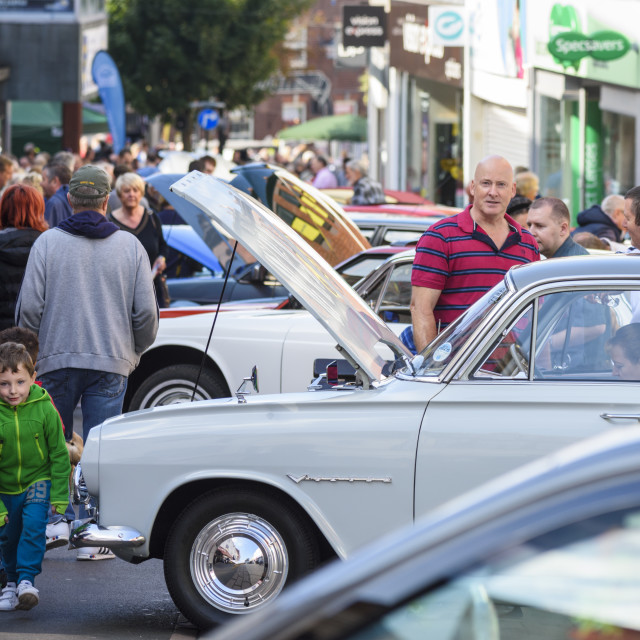 """""""Classic Car Show in Hinckley"""" stock image"""
